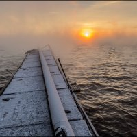 Мостик в тумане. :: Юрий Клишин