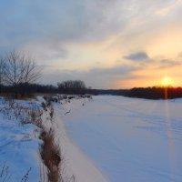Зимний закат :: Владимир Суязов