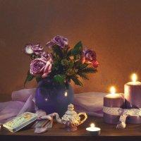 Танец свечи на столе... :: Валентина Колова