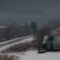 Хмурое утро в деревне :: Сергей