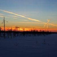 закат последнего дня зимы... :: Сергей