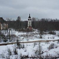 Вид с колокольни церкви во имя Покрова Пресвятой Богородицы :: Елена Павлова (Смолова)