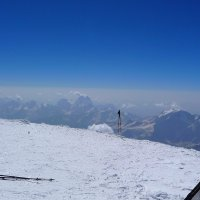 На восточной вершине Эльбруса. Высота 5621 м. Вид на горы... почти как с самолёта... :: Vladimir 070549