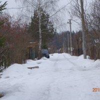 Зимняя дачная дорога. :: Леонид Махов