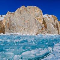 Мыс Шунте-левый, со льда, а там дальше - Хобой. :: Вадим Лячиков