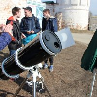 Настройка телескопа.Солнечное затмение в Рязани. :: Василий Капитанов
