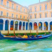 Утренняя Венеция, туман  и  гондолы. :: Алла ************