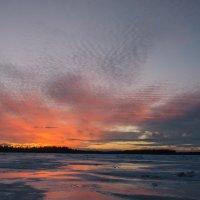 Карелия. Белое море. Закат. Март 2015 :: Елена Решетникова
