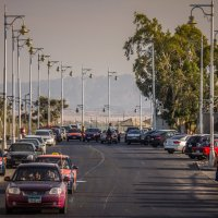 Столбы, фонари, машины, такси... :: Alexander Antonov