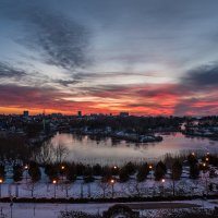 Зимний закат :: Денис Красненко