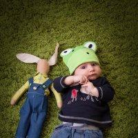 малыш с кроликом тильда) :: Оля Грушевская