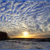 Апрельский закат :: Геннадий Ячменев