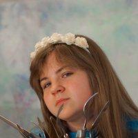 Портрет в цвете с вилками. :: Елена Мартынова