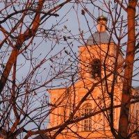 Колокольня на закате :: Елена Смолова