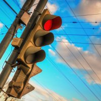 Красный свет зиме :: Максим Дорофеев