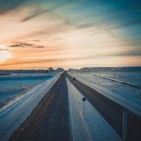 Зимний закат :: Nikki Lashkevich