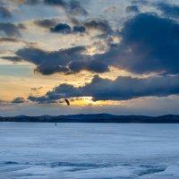 Кайтинг на закате. :: Сергей Адигамов