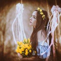 Портрет с тюльпанами :: Фотохудожник Наталья Смирнова
