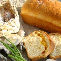 Чесночный хлеб. Рецепт можно посмотреть в моей кулинарной группе http://vk.com/public85432007 :: Наталья Майорова