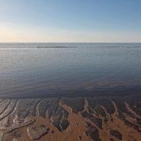 Северодвинск. Белое море. Весна наступает. Вода рисует на иле :: Владимир Шибинский