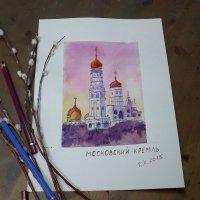 Москва. Храмы Кремля. Акварель. :: Елена Каталина