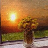 Закат в распахнутом окне :: galina tihonova
