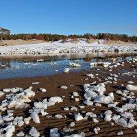 Северодвинск. Белое море. Весна наступает. Вид с косы на берег :: Владимир Шибинский