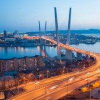 """Мост через """"Золотой рог"""". Владивосток :: Михаил Сахнов"""