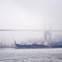Мост в тумане. Владивосток. :: Михаил Сахнов