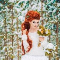 Фото свадебного макияжа невесты с рыжими волосами