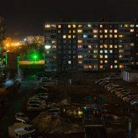 Обычный двор апрельским вечером... :: Сергей Щелкунов