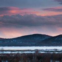 Апрельские зарисовки. Вечер над озером Мылки. :: Сергей Щелкунов