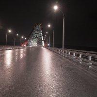 Бугринский мост ночью после дождя :: Alex Sib