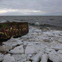 Северодвинск. Весна наступает. Белое море. И здесь граффити :: Владимир Шибинский