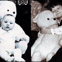 С любимым мишкой. 1975, 1983 год :: Нина Корешкова