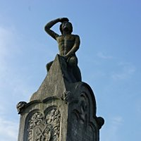 На Каменном мосту (Steinerne Brücke). Bruckngmandl, каменный сторож моста :: Елена Павлова (Смолова)