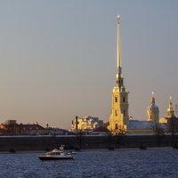 Петропа́вловская кре́пость на закате :: Слава