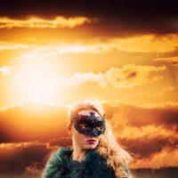 Огненный закат :: Фотохудожник Наталья Смирнова