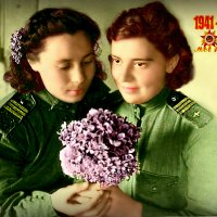 Две подруги Анна и Любовь, 22.05.1944 г. :: TATYANA PODYMA