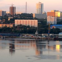 Владивосток. Бухта Золотой Рог. Раннее  утро в июле :: Марина Белоусова