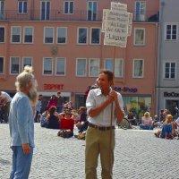 Augsburger Rathausplatz-городская площадь в  Аугсбурге :: Galina Dzubina