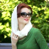 Это не Таня, и это не фотографии)) Это летняя, зелено-рыжая психотерапия) :: Маргарита Евсеева