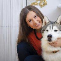 с хаской :: Инна Колесникова