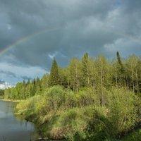 Радуга над озером :: Сергей Винтовкин