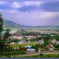 Поселения ..по берегам реки ,впадающих в Чарвакское водохранилище... :: Людмила Богданова (Скачко)