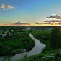 Закат над селом :: Олег Дмитриев