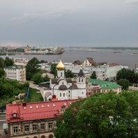 Ока впадает в Волгу г.Н.Новгород :: Вячеслав Кириллов