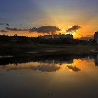Закат над озером...6 :: Андрей Войцехов