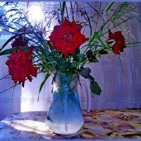 Сиреневый вечер и розы....... :: Людмила Богданова (Скачко)