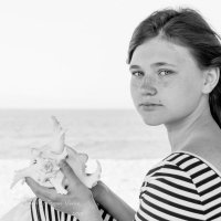 Портрет дочки (ч/б) :: Юлия